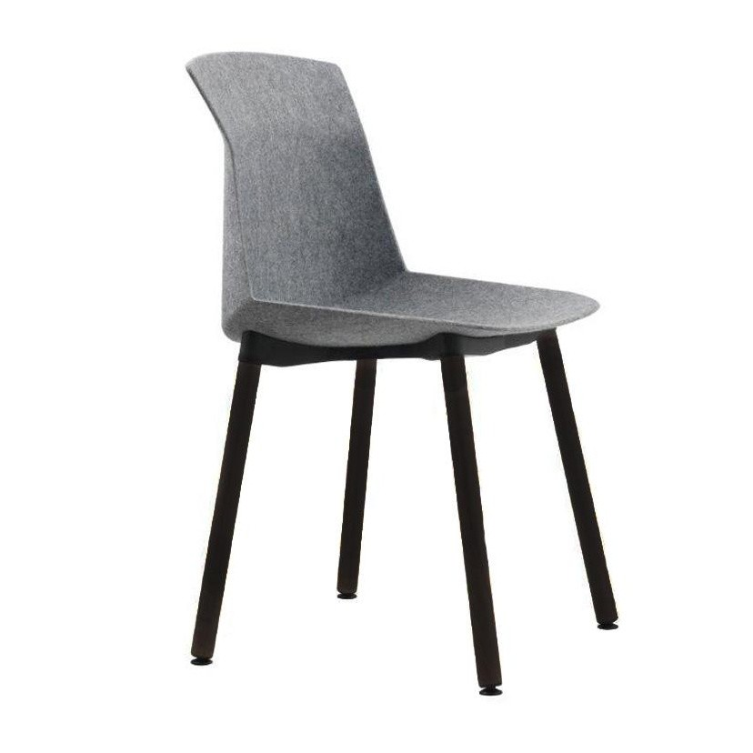 Cassina   Motek Chair   Grey/frame Black/felt