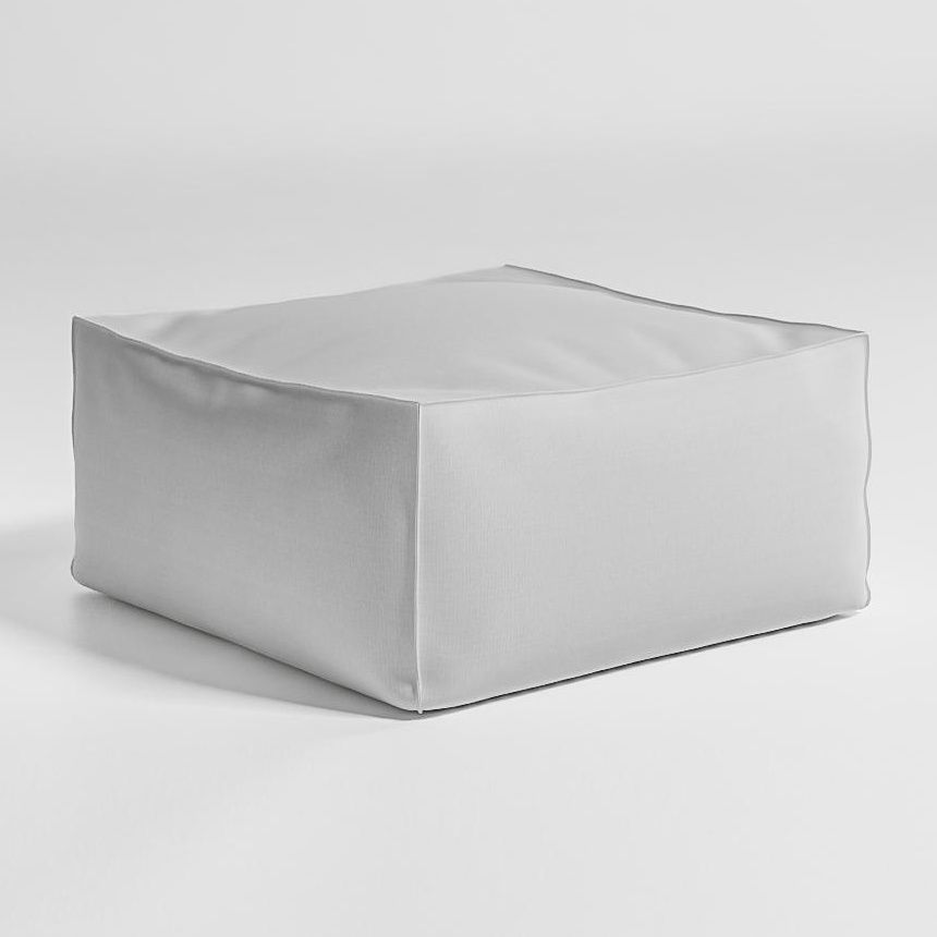 gandia blasco sail outdoor poufseat cushion whitefabric water sunbrella