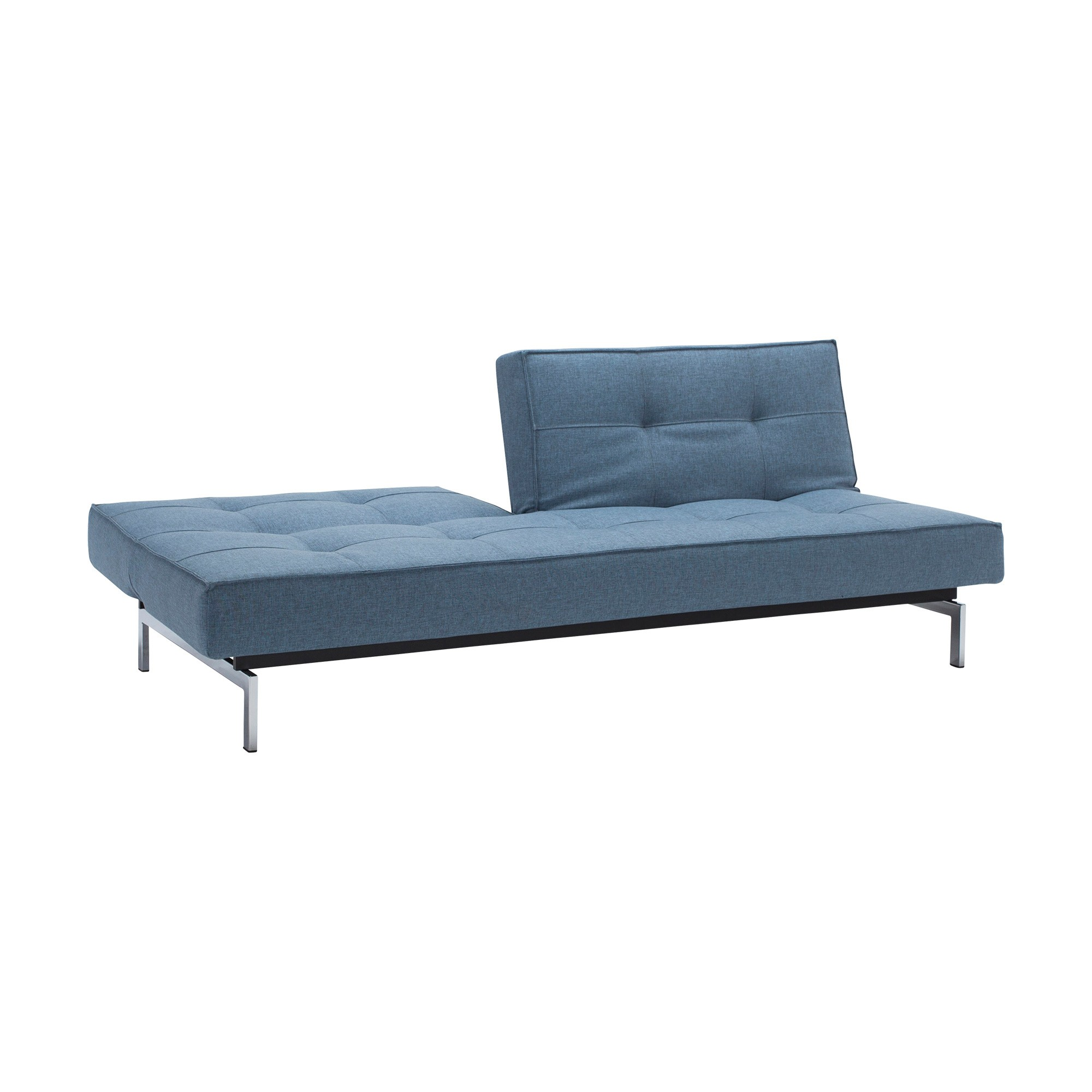 Picture of: Innovation Splitback Sofa Bed Chrome 210x89cm Ambientedirect