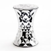 Kartell - Stone Metallic Hocker - chrom/glänzend