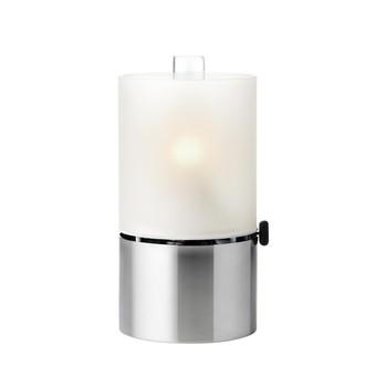 Stelton - EM Öllampe mit Glasschirm - edelstahl/satiniertes Glas/H 23,5cm