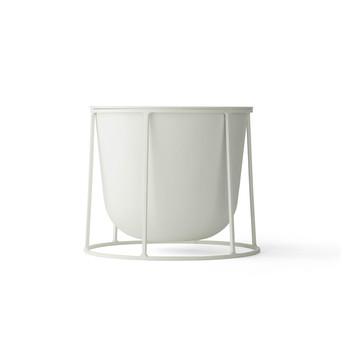 Menu - Wire Pot Blumentopf - weiß/pulverbeschichtet/H 17cm, Ø 23cm/ohne Gestell