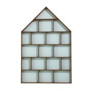 ferm LIVING - The Dorm Wandregal - mint/braun/BxH 35x75cm