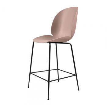 Gubi - Beetle Counter Chair Barhocker Schwarz 108cm - süßes pink/Sitz Polypropylen-Kunststoff/BxHxT 53,5x108x58cm/Gestell Schwarz