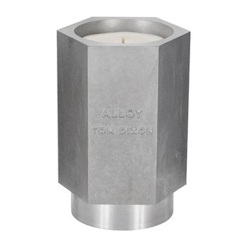 Tom Dixon - Materialism Alloy Candle Kerze L - silber/H 16cm, Ø 11cm