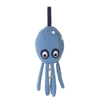 ferm LIVING - Octopus Spieluhr - blau/100% Baumwolle CE-gerüft/30x12cm/spielt Brahm's Lullaby