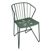 Fermob - Chaise avec accoudoirs de jardin Flower perforé