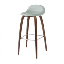 Gubi - Gubi 3D Bar Stool Barhocker Walnussgestell