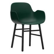 Normann Copenhagen - Chaise avec accoudoirs Form structure bois noir