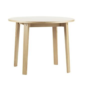 Normann Copenhagen - Slice Holz Esstisch Ø95cm - eiche/Tischplatte creme/H x Ø: 74 x 95cm
