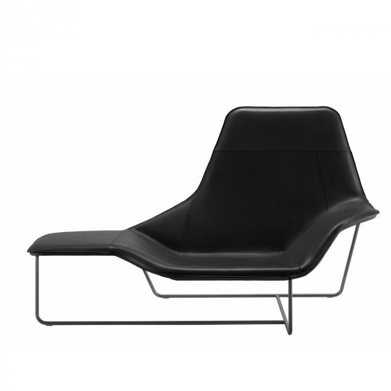 zanotta lama chaise longue noircuir - Chaise Longue Cuir