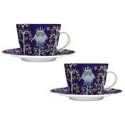 iittala - Taika Kaffeetassen Set 2tlg. - blau/ornament/0,22l