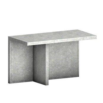 Zeus - Atrium Meteorite Konsole - hellgrau/beton-ähnliche Behandlung/120x72x60cm