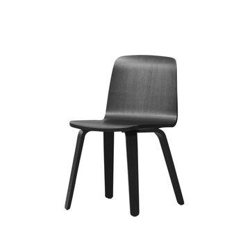Normann Copenhagen - Just Chair Oak Stuhl - schwarz/Gestell eiche schwarz/H x B x T: 79 x 53 x 53cm