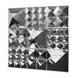 VerPan - Mirror Sculpture Pyramiden-Set - silber/verspiegelt/3x 1 Pyramide/3x 4 Pyramiden/3x 9 Pyramiden/144x144x27cm