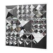 VerPan - Mirror Sculpture Pyramid Set - silver/mirror/3x 1 Pyramid/3x 4 Pyramids/3x 9 Pyramids/144x144x27cm