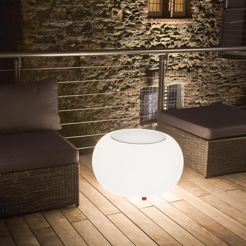 Moree - Bubble LED Accu Outdoor Beistelltisch