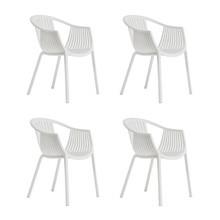 Pedrali - Set de 4 chaises de jardin avec accoudoirs Tatami 306
