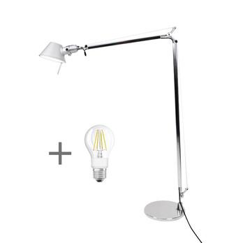 Artemide - Aktionsset Tolomeo Lettura Leseleuchte + LED - aluminium/eloxiert/poliert/LxBxH 100x15x167cm/mit Standfuß und LED Leuchtmittel