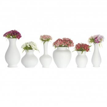 Schönbuch - Blossom Vasen 6er-Set - weiß/Ø7cm H:13cm/Ø8cm H:8cm//Ø6cm H:11,5 cm/Ø8cm H:9cm//Ø5cm H:7,5cm/Ø4,5cm H:11cm