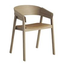 Muuto - Chaise avec accoudoirs cuir Cover