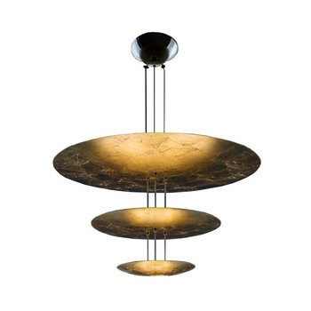 Catellani & Smith - Macchina Della Luce I LED Pendelleuchte - gold/Messing Stäbe/2600K-2800K/3150lm/CRI80/IP20/Scheiben Ø80/50/30cm