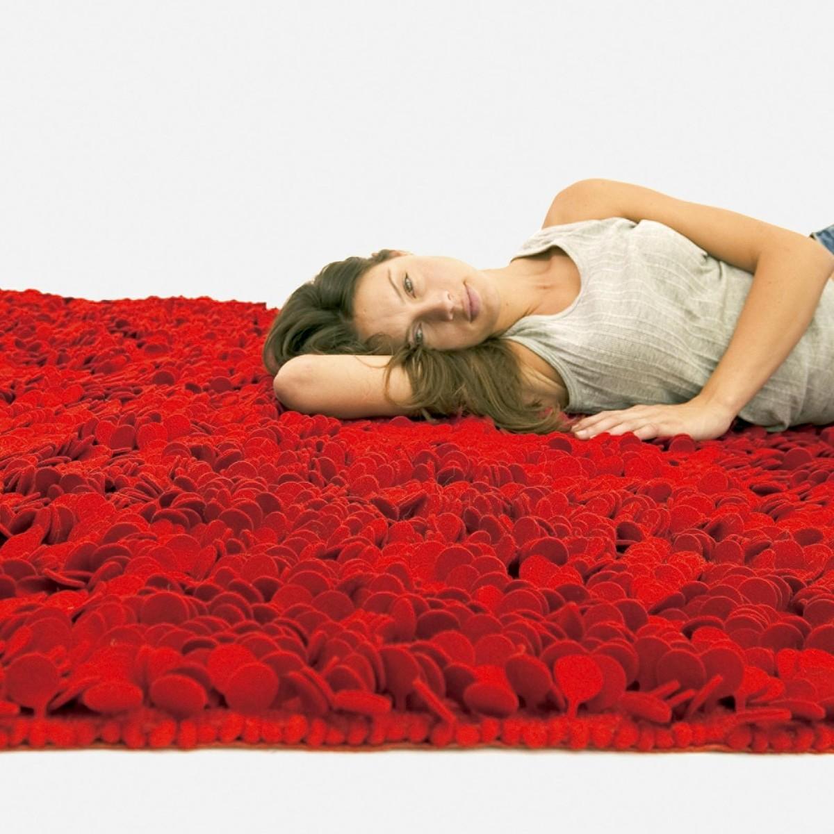 nanimarquina roses design woll filz teppich nanimarquina. Black Bedroom Furniture Sets. Home Design Ideas
