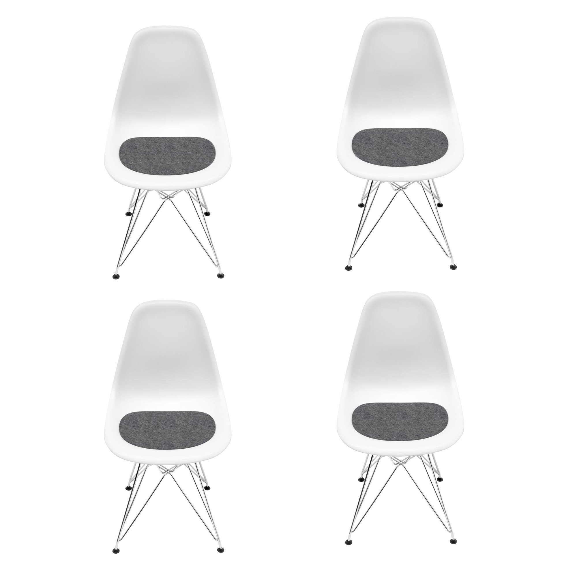 Vitra - Eames DSR Chair Promotion 4-Piece Set H43cm - white/new height  sc 1 st  AmbienteDirect & Vitra Eames DSR Chair Promotion 4-Piece Set H43cm | AmbienteDirect