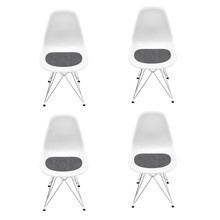 Vitra - Eames DSR Chair Aktionsset 4er Set H43cm