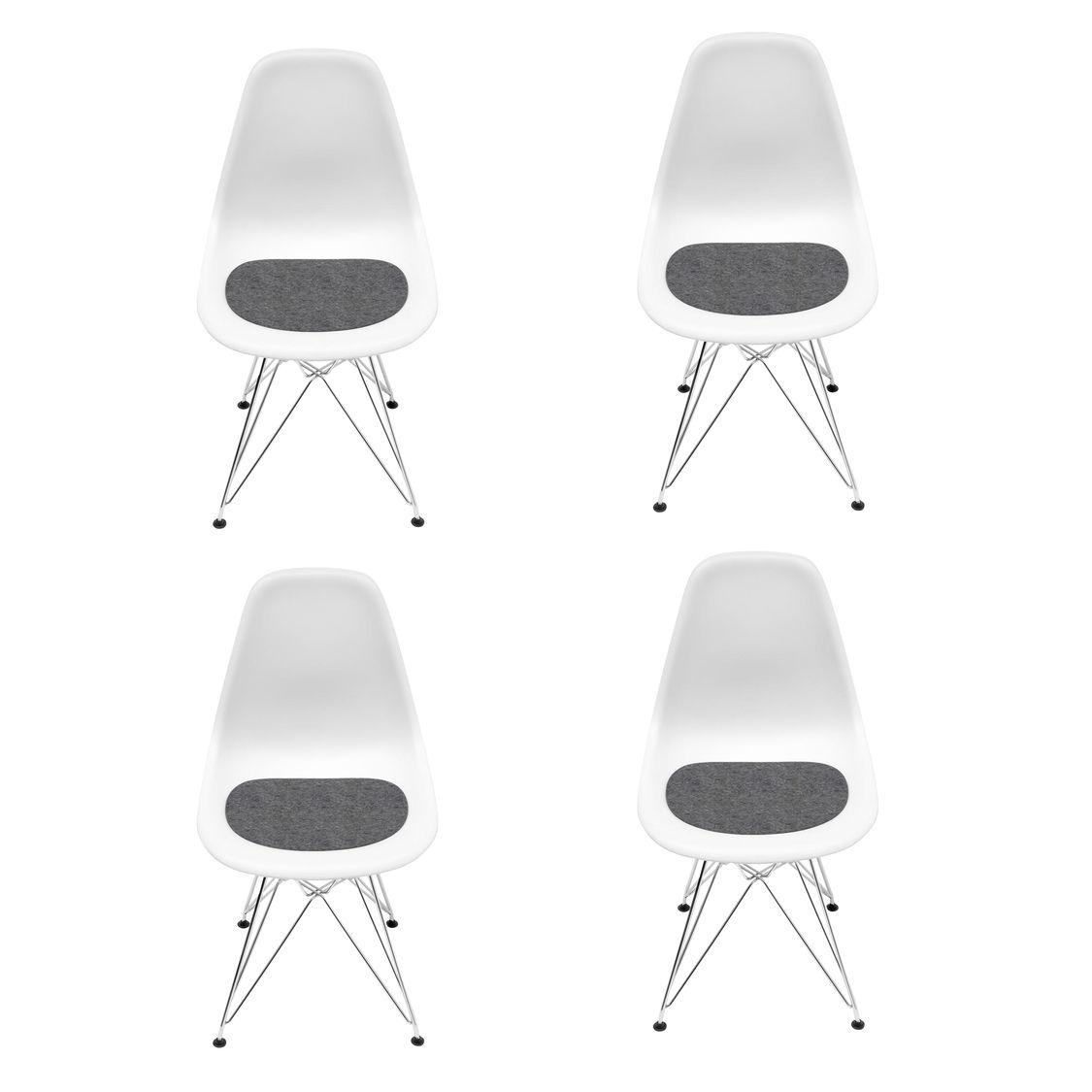 Eames dsr chair kit de promotion 4 chaises vitra for Chaise facon eames