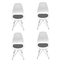 Vitra - Eames DSR Chair Promotion 4-Piece Set H43cm