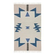 ferm LIVING - Kelim Blue Triangles Rug small