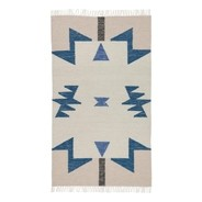 ferm LIVING - Kelim Blue Triangles Rug