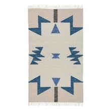 ferm LIVING - Kelim Blue Triangles - Tapis
