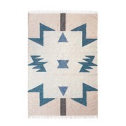 ferm LIVING - Kelim Blue Triangles Rug large