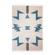 ferm LIVING - Kelim Blue Triangles - Tapis grand