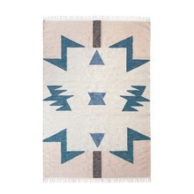 ferm LIVING - Kelim Blue Triangles Teppich