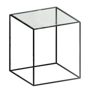 Zeus - Table d'appoint verre Slim Irony 41x41cm