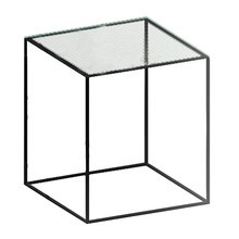 Zeus - Slim Irony Side Table glass 41x41cm