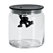 Alessi - Gianni Küchendose aus Glas 0,7l - schwarz