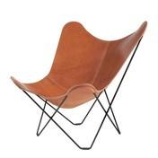 cuero - Pampa Mariposa Butterfly Chair Sessel - mittelbraun/Polo 66/Gestell schwarz