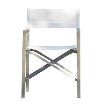 Jan Kurtz - Lux Regiesessel - weiß/Bezug Batyline/BxHxT 54x85x56cm/Gestell Edelstahl
