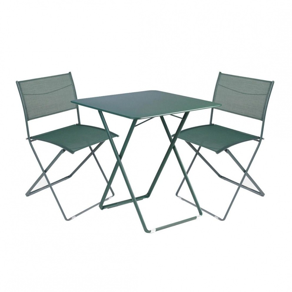 Plein air ensemble de 1 table 2 chaises fermob for Fermob table de jardin