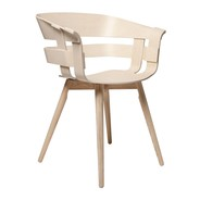 Design House Stockholm - Chaise avec accoudoirs Wick structure bois