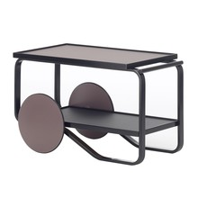 Artek - 901 Tea Trolley Black Birch Base