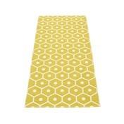 pappelina - Honey Teppich 70x160cm - senfgelb/vanille/wendbar