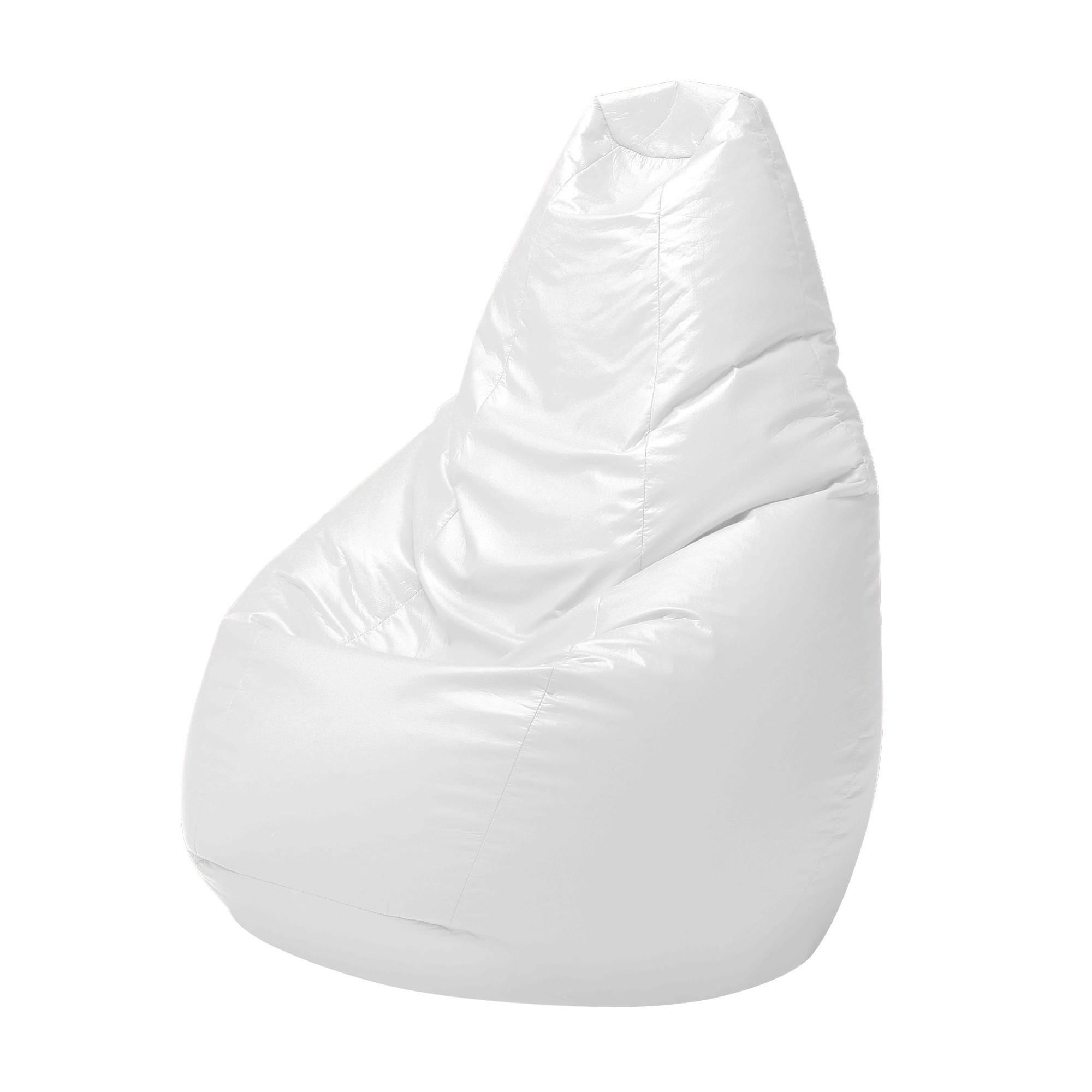 Zanotta Sacco Bean Bag Clic White Synthetic Leather