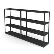 HAY - New Order Sideboard 200x110cm - charcoal dunkelgrau/lackiert