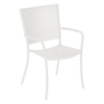 emu - Athena Gartenarmlehnstuhl - weiß/Stahl matt/LxBxH 63x59x90cm