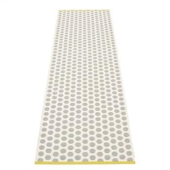 pappelina - Noa Teppich 70x250cm - grau/vanille/senfgelber Streifen/wendbar